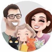 persoonlijke illustratie gezin